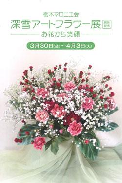 栃木マロニエ会 20周年記念 深雪アートフラワー展